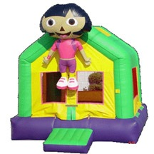 inflatable dora bouncer,inflatable small indoor kids bouncy castle