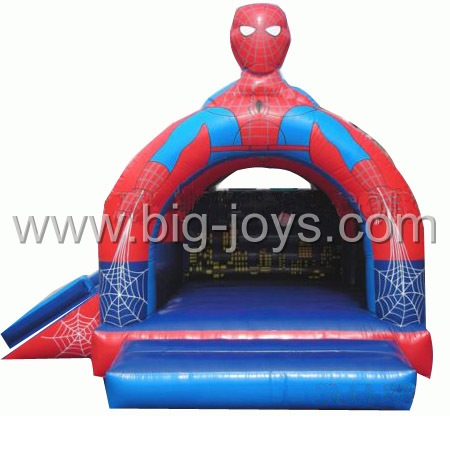 inflatable spiderman bouncy slide,inflatable spiderman trampoline for sale