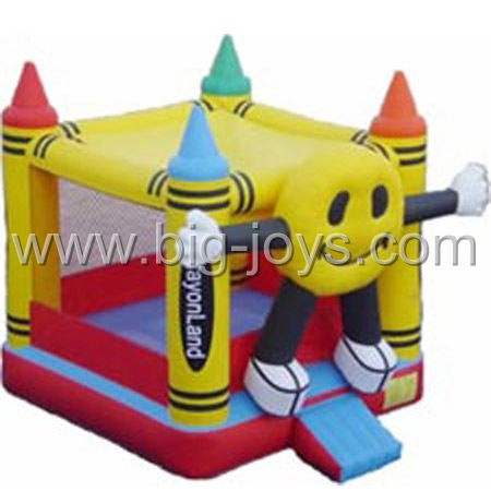 inflatable crayon bouncer,inflatable small bounce trampoline for sale