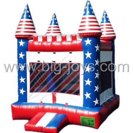 inflatable USA flag bouncer,inflatable theme bouncy castle for sale