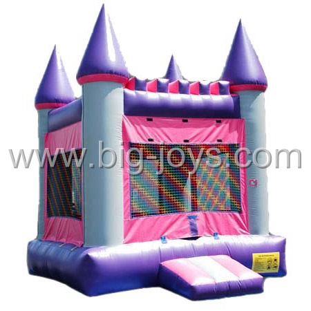 inflatable pink girl bouncer,inflatable cheap bounce castle
