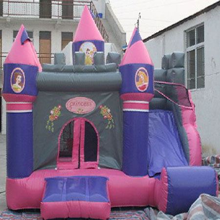 inflatable pink princess bounce slide,cheap jumping castle for sale