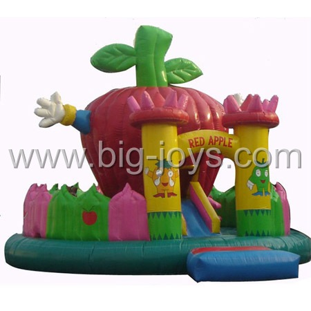 inflatable apple bouncer,small fruit bouncer for sale