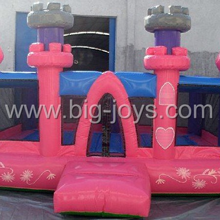 inflatable pink bounce castle,inflatable childrens jumping castle