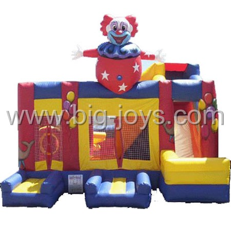 inflatable clown party bounce slide,used inflatable bounce slide for sale