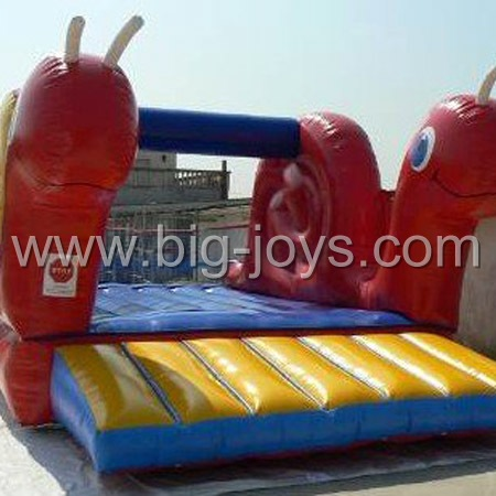 inflatable snail bounce,inflatable jump square