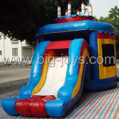 inflatable cake bouncer slide,inflatable mini bounce slide for sale
