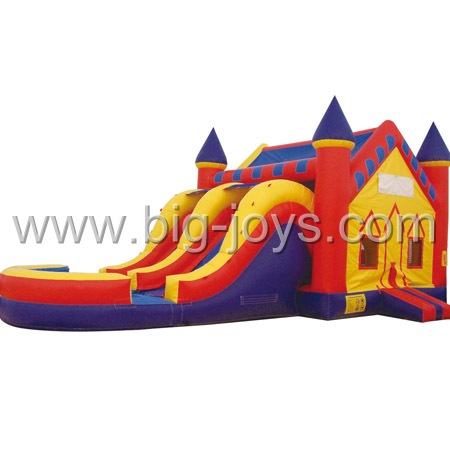 inflatable combo with double lanes slide