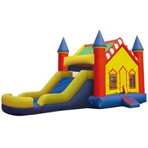 inflatable combo castle sliding pool