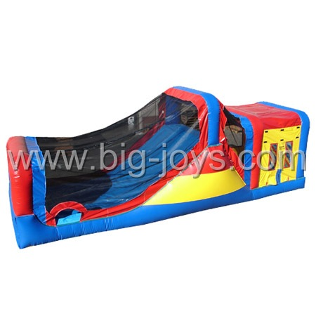 commercial bouncer with slide