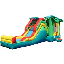 kids inflatable jungle bouncer with slide