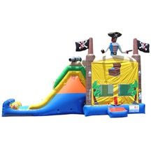 kids pirate ship bouncer with slide