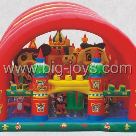 inflatable trampoline with tent cover,inflatable jumping bouncer with cover