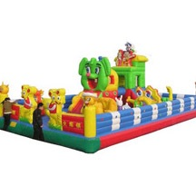 inflatable animal theme park,large inflatable trampoline for sale