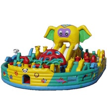 inflatable elephant park,large inflatable play park for sale