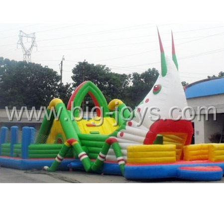 inflatable grasshopper castle,inflatable theme park trampoline