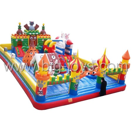 large inflatable trampoline,big inflatable play park for sale
