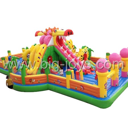 inflatable dragon play park,large inflatable trampoline for sale