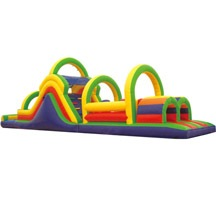 Kids Bouncy Obstacle Course, Inflatable Bouncer Obstacle