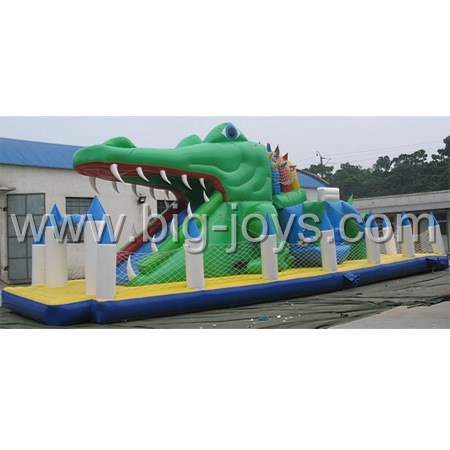 Inflatable Crocodile Playground, Inflatable Sliding Slide, Giant Adult inflatable Slide