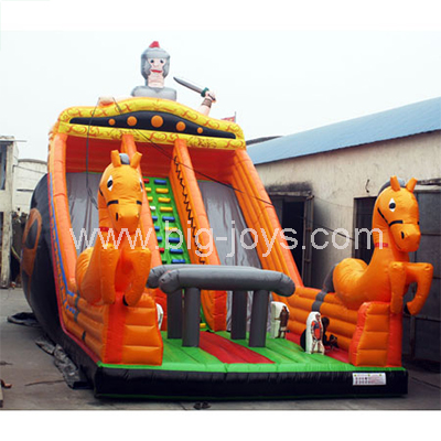 Bouncy castle knight slide,inflatable kids new slide