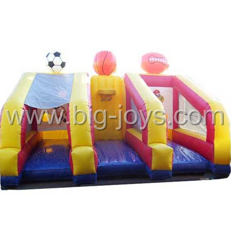 inflatable throw ball game,3 in 1 inflatable ball sports game