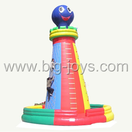 inflatable octopus climbing tower,big inflatable climbing game