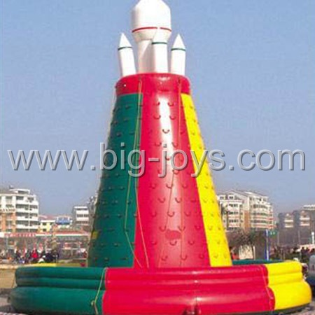 inflatable rocket climbing,large inflatable climbing game