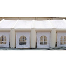 white inflatable party tent