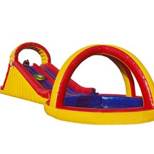 inflatable small pool water slide