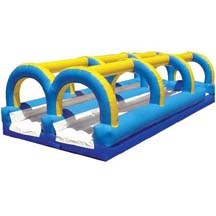 Giant Dual Lane Inflatable Floating Water Slide