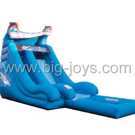 Dophin Inflatable Water Park Slide