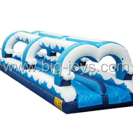 Commercial Inflatable double lane wave slide