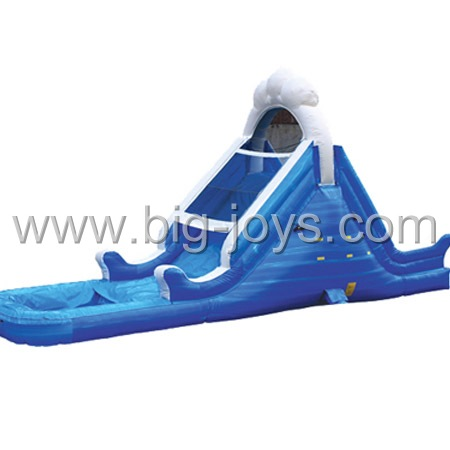 cute dolphin water slide inflatables