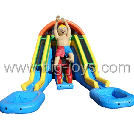 super fun Inflatable Double lane water slide
