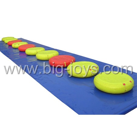 Inflatable floating bridge, inflatable floating water game.