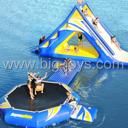 inflatable water trampoline combo,inflatable water slide trampoline