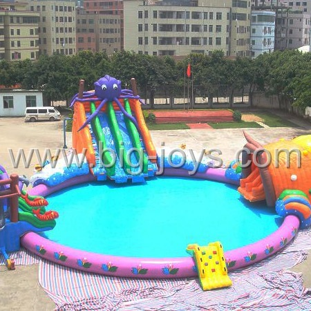 Inflatable octopus water park. Inflatable octopus aqua park.