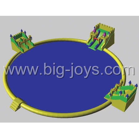 inflatable water park sport game