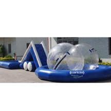 children inflatable pool with slide