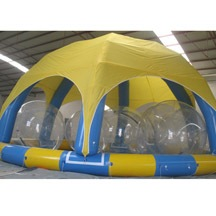 inflatable tent water ball pool