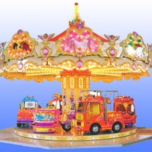 simple carousel,cheap carousel for sale;amusement kiddie carousel
