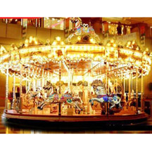 Low price amusement rides carousel; kids musical carousel