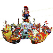 rotating pirate ship;amusement park rides