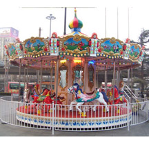 Carousel Gardens Amusement Park; kids mini carousel for decoration