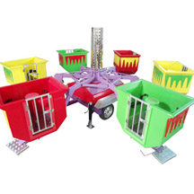 Funny Tubs with Trailer,flying tubes with trailer,mobile park rides,mobile amusement rides