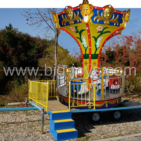 Portable carousel,carousel with trailer