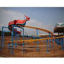 amusement dragon roller coaster