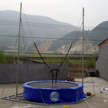 Single Round Bungee Trampoline
