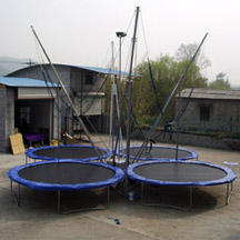 4 persons Bungee Trampoline with wheel
